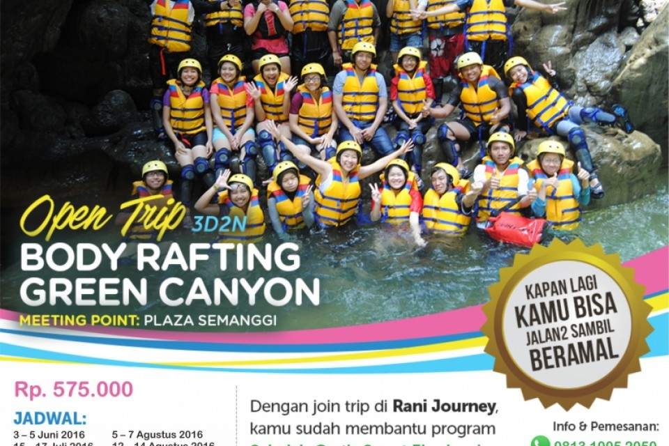 Body Rafting Green Canyon, Pangandaran